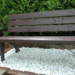 ガーデンベンチをリニューアル