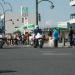 第63回勝田全国マラソン大会、先導風景